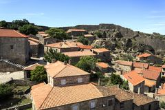 Sortelha – Historical Village of Portugal. View of Sortelha, the oldest and best preserved historical village of Portugal stock image