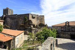 Sortelha – Medieval Town Hall and Castle. View of the 16th century 1510 town hall and prison at the foot of the castle in Sortelha, Portugal royalty free stock images