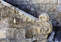 """Sortelha †""""中世纪石议院-楼梯细节 免版税库存图片"""