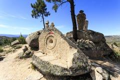Sortelha – Belvedere, Sculptures and Cult Stock Image