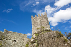 Sortelha Castle. Historic village near Covilha, Portugal Royalty Free Stock Image