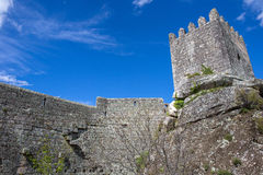 Sortelha Castle. Historic village near Covilha, Portugal Royalty Free Stock Images