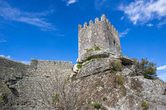 Sortelha Castle. Historic village near Covilha, Portugal Royalty Free Stock Photos