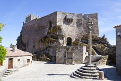 Sortelha Castle. With a Pillory Royalty Free Stock Photo