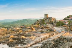 Sortelha Castle. On top of the hill, Portugal stock image