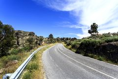 Sortelha – Granite Outcrops on the Road Royalty Free Stock Images