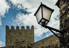 Sortelha historical mountain village, built within Medieval fortified walls, included in Portugal`s Historical village. Route stock photography