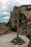 Sortelha historical mountain village, built within Medieval fortified walls, included in Portugal`s Historical village. Route stock photo