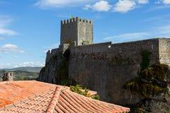Sortelha slott arkivbild
