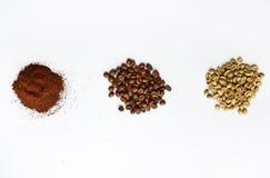 Sorter av kaffe Arkivfoton