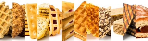 12 sorter av kakor, slut upp royaltyfri foto