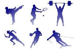 Sorter av sporten royaltyfri illustrationer