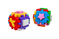 Sorter Toy colorful cubes with interlocking parts Royalty Free Stock Photos