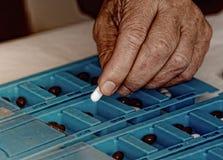 Sortering av Pills arkivbild
