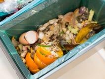 Sortering för organisk avfalls arkivbild