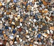 Sortes de Variounds ; pierres de la rivière Images stock