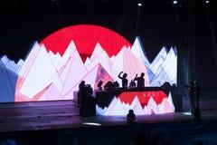 Sortez l'arène de danse du festival de musique 2013 photos stock