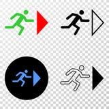Sortez l'icône de Person Vector ENV avec la version de découpe illustration libre de droits
