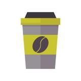 Sortez l'illustration de vecteur de tasse de boissons Image libre de droits