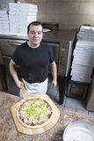 Sortez le chef de pizza Photos stock