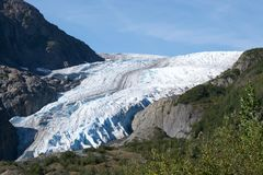 Sortez le parc national de glacier, Seward AK Images stock