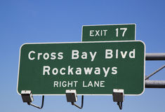 Sortez le signe à la route express de ceinture Photo stock