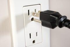 Sortie électrique Photographie stock
