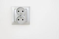 Sortie électrique avec le chemin de découpage Photo libre de droits