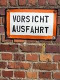 Sortie d'appel allemande de bouclier image libre de droits