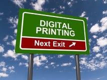 Sortie d'impression de Digital prochaine Photos libres de droits