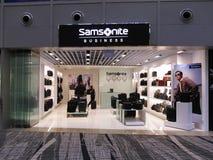 Sortie de boutique de détail de marque d'affaires de Samsonite Images libres de droits