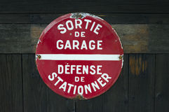 Sortie de Garage Photos stock