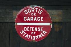 Sortie de Garage Fotografie Stock