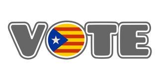 Sortie de la Catalogne du processus politique de l'Espagne Images stock