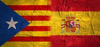 Sortie de la Catalogne du processus politique de l'Espagne Images libres de droits