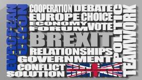 Sortie de la Grande-Bretagne d'Union européenne Brexit Photographie stock libre de droits