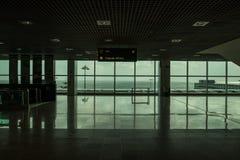 Sortie vide d'aéroport avec la grande vue Photo libre de droits