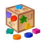 Sortierboxspielzeug auf weißem Hintergrund vektor abbildung