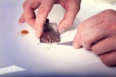 Sortieren von Diamanten lizenzfreie stockbilder