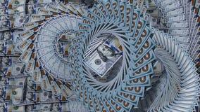 Sortiert 100 Dollar Abbildung 3D Lizenzfreie Stockfotografie