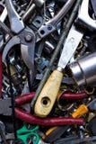 Sortierte alte Handhilfsmittel Stockfoto