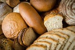 Sortierte Brote Stockfotografie
