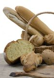 Sortierte Brote getrennt Lizenzfreies Stockbild