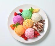 Sortierte Eiscreme Stockbild