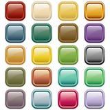 Sortierte Farben des Webs Tasten Lizenzfreies Stockbild