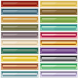 Sortierte Farben des Webs Tasten Stockfotos