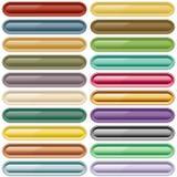 Sortierte Farben des Webs Tasten Lizenzfreie Stockfotografie