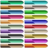 Sortierte Farben des Webs Tasten Stockbilder