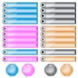 Sortierte Farben und Formen des Webs Tasten Lizenzfreies Stockbild