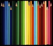 Sortierte farbige Bleistifte Stockfotos